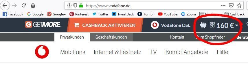 Geld sparen mit Vodafone_Getmore_Cashback