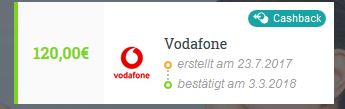 Cashback Vodafone Aklamio